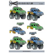 3D ark monster truck