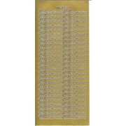 Stickers Velbekomme guld 45 232