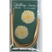Quillingstrimler 5 mm. x 297 mm. guld majestic