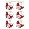 3D ark roser i røde farver med tekst