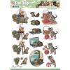3D ark søde killinger udstanset
