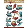 3D ark gamle biler udstanset