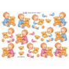 3D ark baby dreng/pige med bamse