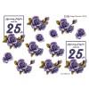 3D ark 25 år blå roser