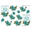 3D ark 70 år turkis roser