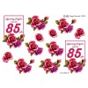3D ark 85 år mørk pink roser