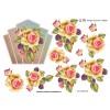 3D ark rose med brombær