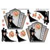 3D ark brudepar - silhouette