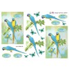 3D ark blå papegøje
