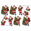 3D ark juletræ og julemanden med gaver