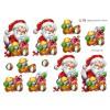 3D ark glad julemand med gavesæk
