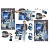 3D ark konfirmation dreng høretelefoner, pc og penge