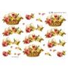 3D ark påskeæg og blomster i kurv