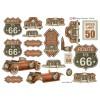 3D ark gammel amerikansk bil og route 66