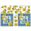 3D ark Blåmejser og blomster
