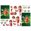 3D ark fodbold dreng