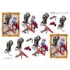 3D ark træramme med sko, mobil og nøglekæde til piger