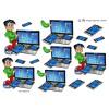 3D ark sej dreng ved pc skærm