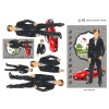 3D ark konfirmation dreng med rød sportsvogn
