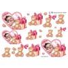 3D ark babypige i hjerteramme