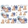 3D ark babydreng i hjerteramme