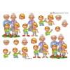 3D ark bedsteforældre og børnebørn