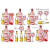 3D ark pink gin med tonic