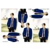 3D ark Konfirmation dreng i blå jakke ved kirke