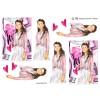 3D ark konfirmation pige med lyserød jakke
