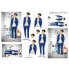 3D ark konfirmation dreng i blå jakkesæt med baggrund