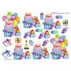 3D ark kage, gaver og balloner
