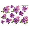 3D ark skønne forårsblomster i lilla farver