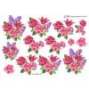 3D ark roser og liljer
