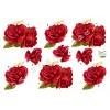 3D ark rød rose