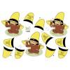 3D ark abe med gul hat