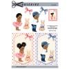 3D ark total søde afro børn - dreng og pige
