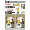 3D ark øl og spillekort