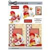 3D ark Nissepige & dreng - juleklip & julegås