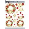 3D ark bryllup ringe i cirkel af roser