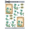 3D ark blomster og tal