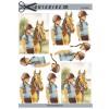 3D ark hest og pige