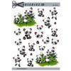 3D ark søde pandaer