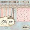 Riddersholm Design papirblok 30 ark 15,2 x 15,2 cm. Baby star