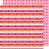 Scrapbooking papir 30.5 x 30.5 cm. konfirmation - rød