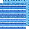 Scrapbooking papir 30.5 x 30.5 cm. konfirmation - blå