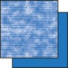 Scrapbooking papir 30,5 x 30,5 cm. blå konfirmation / marmoreret