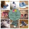 Dixi Craft papir med sneakers (sko) - 9x9 cm - farver - 24 ark