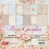 Papirblok 36 ark 15 x 15 cm. Rose Garden