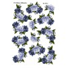 3D ark roseranker i grå / blå farver passer til arket med tekst