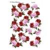 3D ark roseranker i røde farver passer til arket med tekst